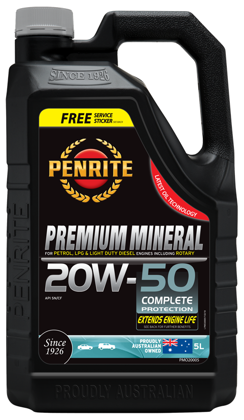 Penrite Oil- PREMIUM MINERAL 20W-50 - Petrol / E10