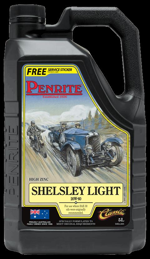 Penrite Oil- SHELSLEY LIGHT 20W-60 (Mineral) - Petrol / E10