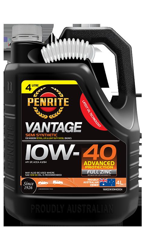 Penrite Oil - VANTAGE SEMI SYNTHETIC 10W-40 - 4L