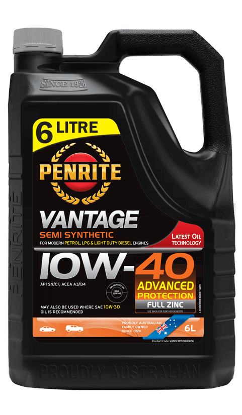Penrite Oil- VANTAGE SEMI SYNTHETIC 10W-40 - LPG (Gas) / Dual Fuel