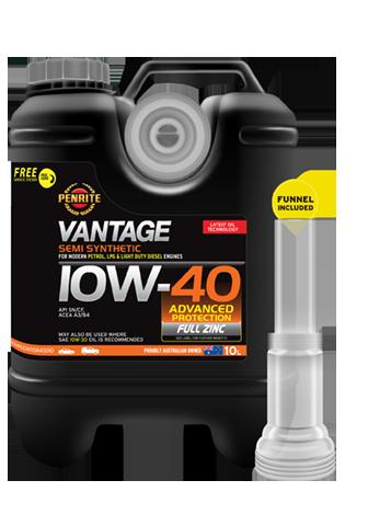 Penrite Oil - VANTAGE SEMI SYNTHETIC 10W-40 - 10L