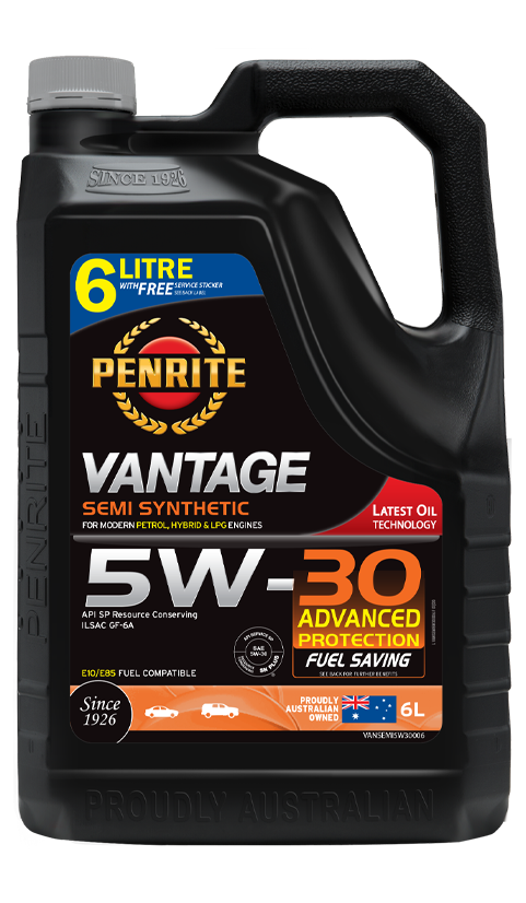Penrite Oil- VANTAGE SEMI SYNTHETIC 5W-30 - LPG (Gas) / Dual Fuel