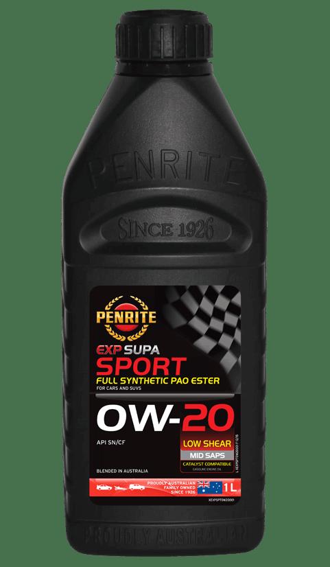 Penrite Oil- EXP SUPA SPORT 0W-20 - Export